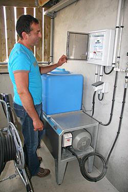 Le fonctionnement de la brumisation est géré par un automate