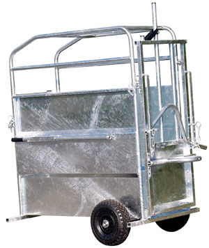 contention mobile cage à écorner les veaux