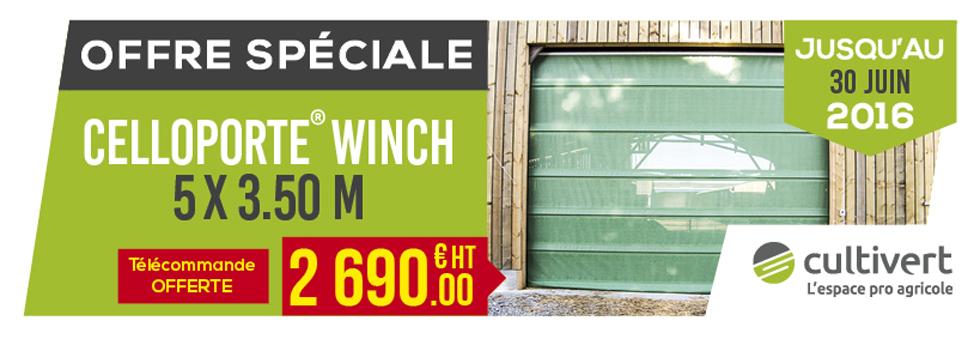 Slide Ofre spéciale Celloporte Winch 5 x 3.50m Cultivert