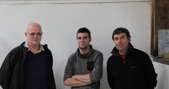 e gauche à droite, Jean Yves Plouzennec, Florent Plouzennec et Jacques Cosmao.