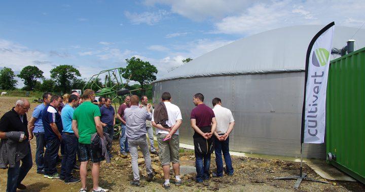 Cultivert a invité les agriculteurs bretons intéressés dans l'Orne, sur une unité de microméthanisation qui valorise exclusivement du lisier de bovins.